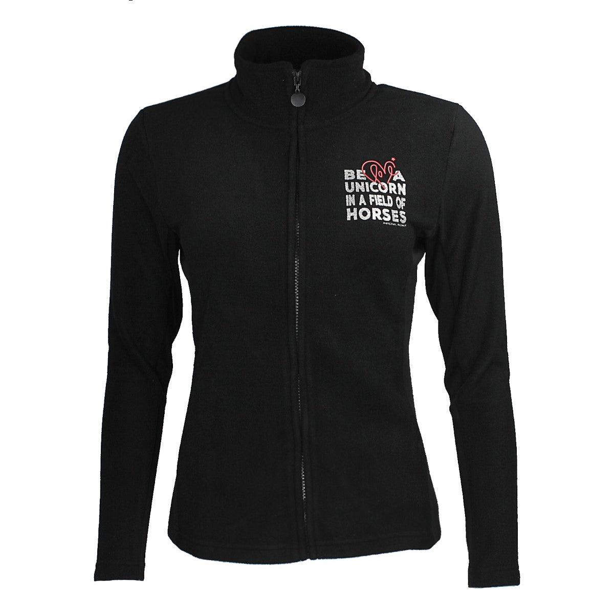 Imperial Riding Refresh Unicorn Fleece Jacket - Black - Divine Equestrian
