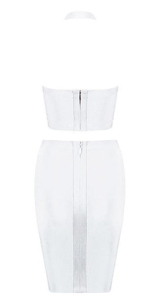 'Grady' Halter Two Piece - White