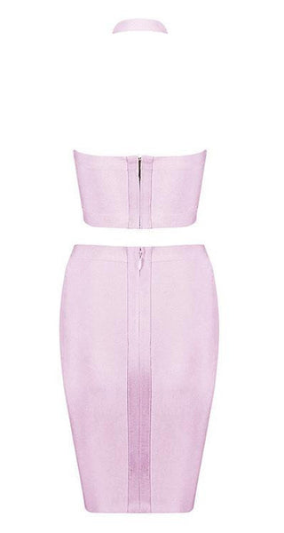'Grady' Halter Two Piece - Pink