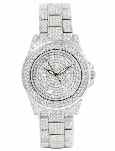 'Crystallize' Iced Watch - Bleu Luxury
