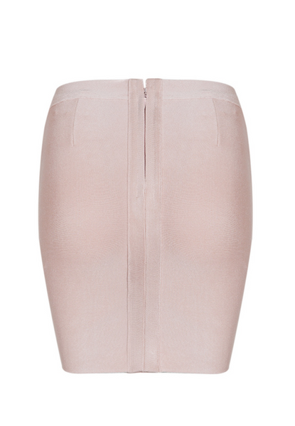 'Ramsay' Laced Bandage Skirt - Beige