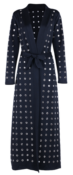 'Frankey' Hollowed Duster Coat - Black - Bleu Luxury