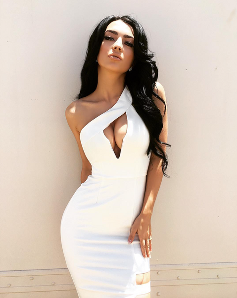 'Rovena' Deep V Off Shoulder Mini Dress - White - Bleu Luxury