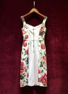 """CELISE"" Floral Bustier Dress - Rose - Bleu Luxury"