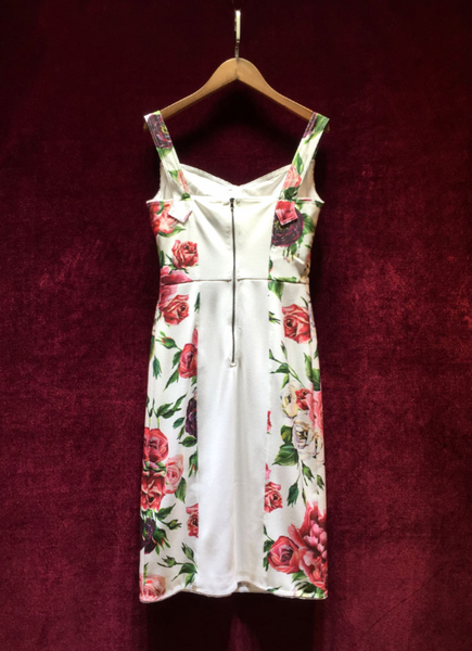 'Celise' Floral Bustier Dress - Rose - Bleu Luxury
