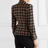'Devyn' Multi Houndstooth Blazer - Black - Bleu Luxury