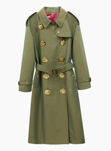 'Kenna' Double Breasted Trench Coat - Khaki - Bleu Luxury