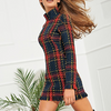 'Sena' Plaid Mini Dress - Red - Bleu Luxury