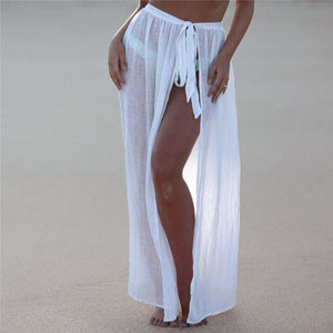 """AZUBA"" LONG SEXY WRAP SKIRT"
