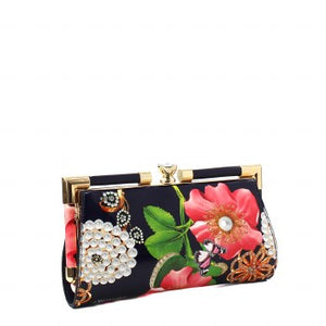 Flowers & Pearls Fashion Clutch