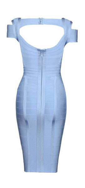 'Gregorio' Bandage Dress - Light Blue - Bleu Luxury