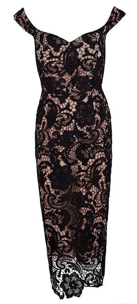 'Sante' Lace Dress - Black
