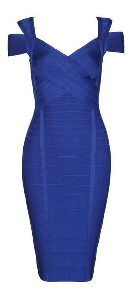 'Gregorio' Bandage Dress - Blue