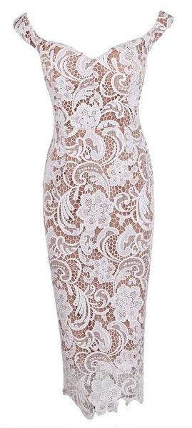 'Sante' Lace Dress - White