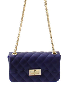Jelly Chain Purse Solid Colors