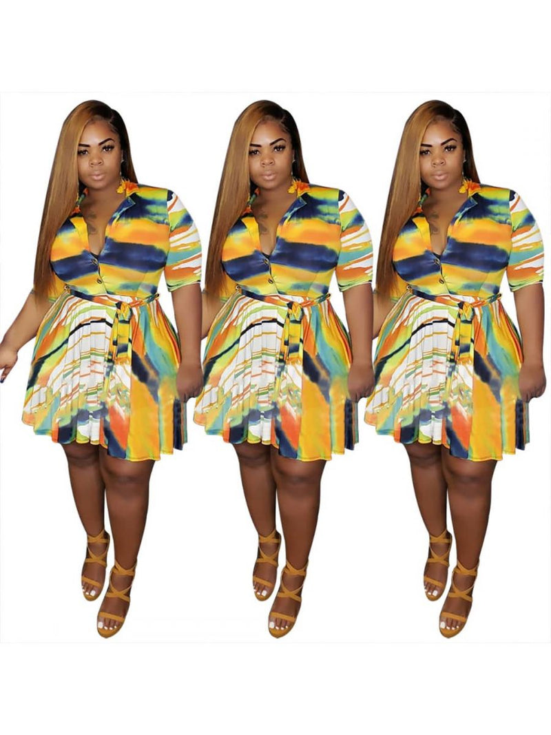 Summer Breeze Plus Size Midi Dress XL - 4X