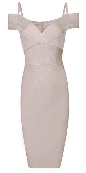 Nicolette - Bleu Luxury - Dresses - Extra Small / Beige - 1
