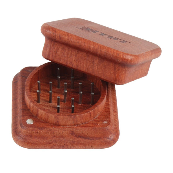 1905 2 Piece Magnetic Rosewood Grinder - Vape Monster City
