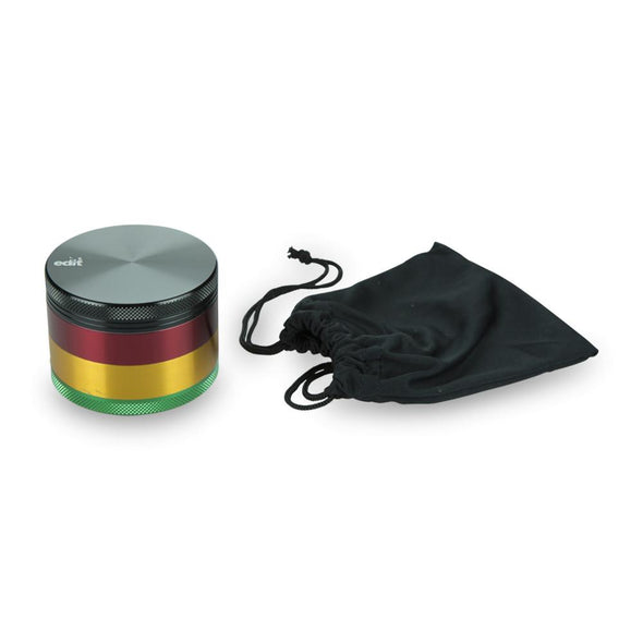 Aluminium Rasta Pocket Grinder | 4 Part - Vape Monster City