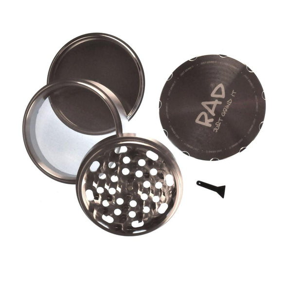 Aluminium 4 Part Grinder Sifter - Vape Monster City