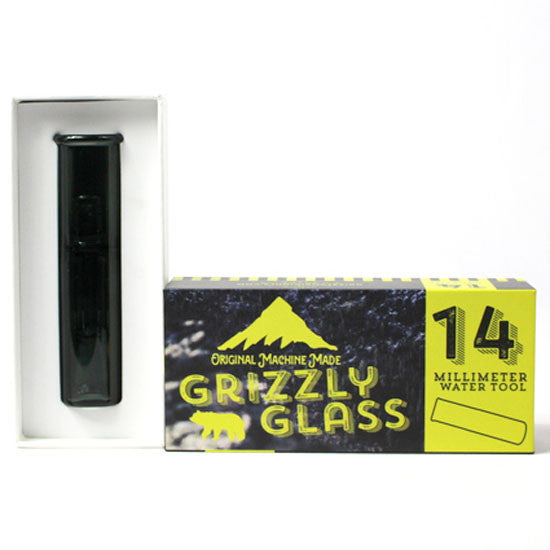 Black 14mm Glass Water Tool - Vape Monster City