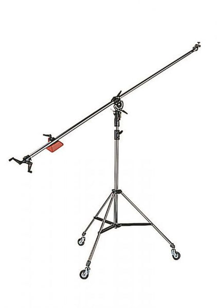Manfrotto Black Super Boom w/008Bu 2-Section Black Alu Stand w/Casters 025BS