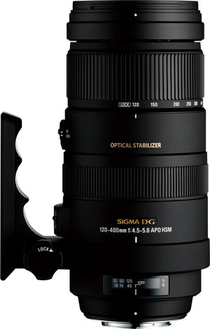 Used Sigma 120-400mm f4.5-5.6 DG APO HSM OS Sony A-Mount - Photo-Video - Used - Helix Camera