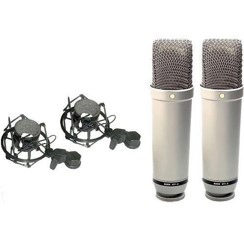 RODE NT1-A Stereo Vocal Condenser Microphones, Cardioid (Pack of 2)