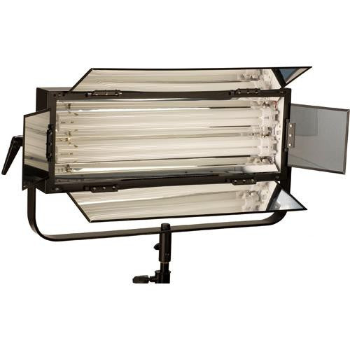 Smith Victor FLO-110 Dimmable 2-tube 110-watt fluorescent light bank w/ barndoors (401025) - Lighting-Studio - Smith-Victor - Helix Camera