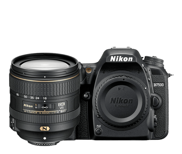 Nikon D7500 DSLR with 16-80mm f2.8-4.0 Lens Kit
