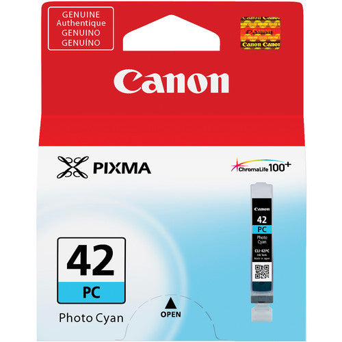 Canon CLI-42 PHOTO CYAN Ink Cartridge (6388B002) - Print-Scan-Present - Canon - Helix Camera