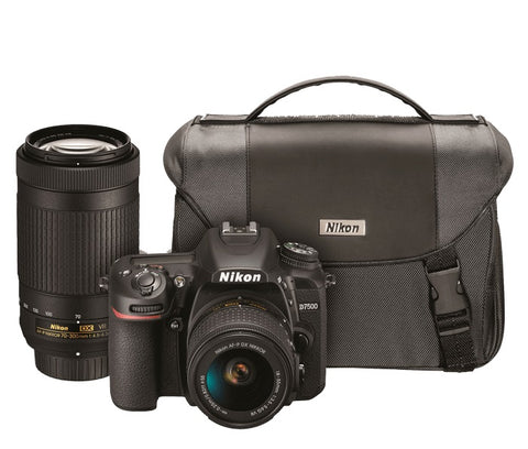 Nikon D7500 DSLR with 18-55mm & 70-300mm VR Lens Kit