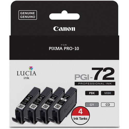 Canon LUCIA PGI-72 Ink Tank Value Pack with Chroma Optimizer (6402B008)