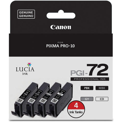 Canon LUCIA PGI-72 Ink Tank Value Pack with Chroma Optimizer (6402B008) - Print-Scan-Present - Canon - Helix Camera