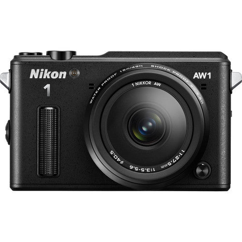 Nikon 1 AW1 Black Camera w/ Nikkor AW 11-27.5mm Lens - 27665  - NEW - Photo-Video - Nikon - Helix Camera
