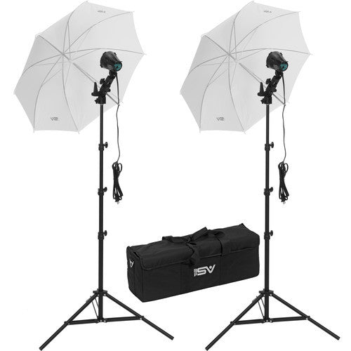 Smith Victor K22U-A 2-Light 1200-watt Portable Attache Kit with Umbrellas (401429) - Photo-Video - Smith-Victor - Helix Camera