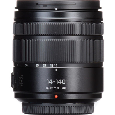 Panasonic Lumix G Vario 14-140mm f/3.5-5.6 ASPH. POWER O.I.S. Lens (Matte Black) H-FS14140AK