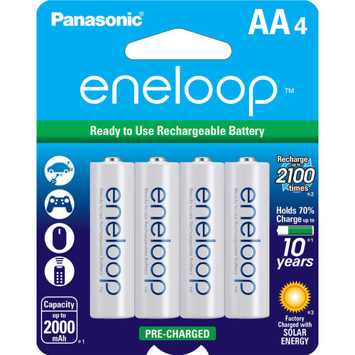 Panasonic Eneloop Rechargeable AA Batteries 4-Pack