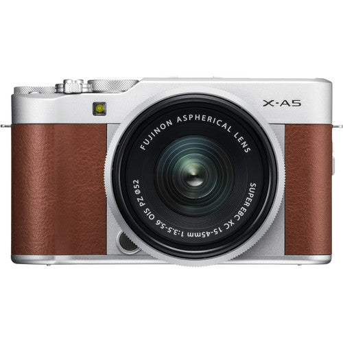 Used Fujifilm X-A5 Mirrorless Camera & XC 15-45mm Lens - Brown