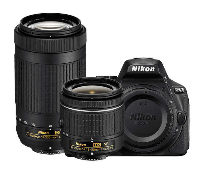 Nikon D5600 DSLR with 18-55mm & 70-300mm Lens kit