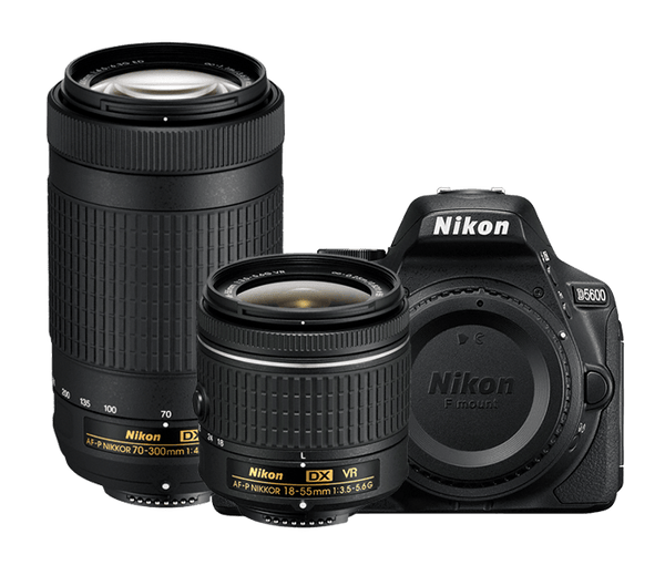 Nikon D5600 DSLR with 18-55mm & 70-300mm Lens