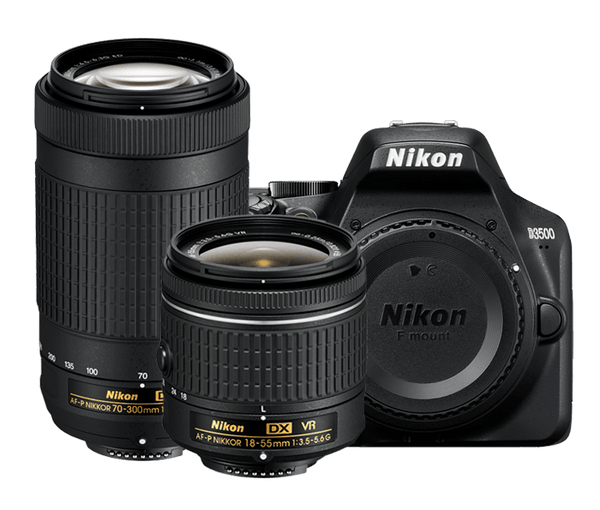 Nikon D3500 DX DSLR with 18-55mm & 70-300mm Lens Kit