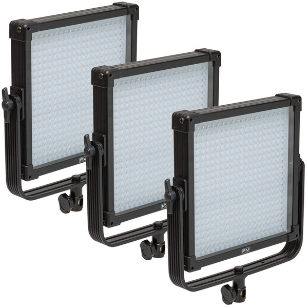 F&V K4000S SE Bi-Color 1x1 LED Studio Panel 3-Light Kit (V-Mount)