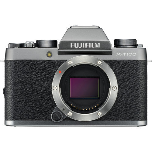 Fujifilm X-T100 Mirrorless Camera Body - Dark Silver