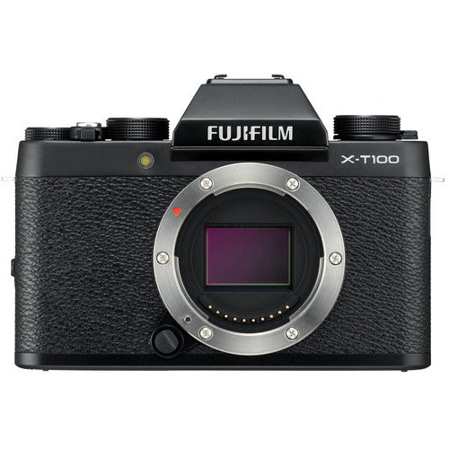 Fujifilm X-T100 Mirrorless Camera & XC 15-45mm Lens - Black