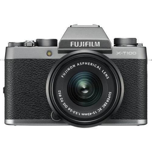 Fujifilm X-T100 Mirrorless Camera & XC 15-45mm Lens - Dark Silver