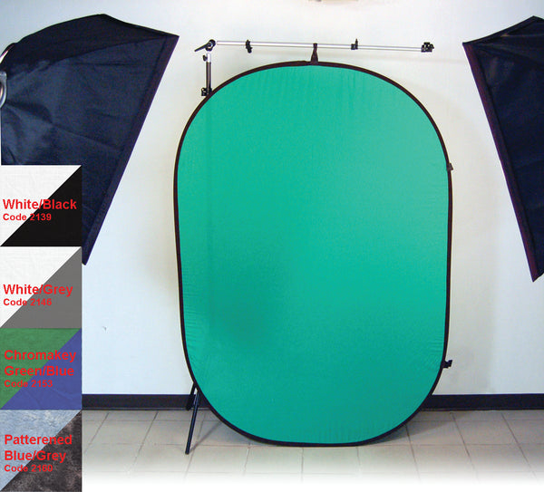 ProMaster Pop-Up Background - Chromakey Green/Chromakey Blue - 6'x7'