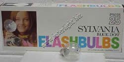 Sylvania Press 25 Clear Flashbulbs (1) pack of 12 bulbs