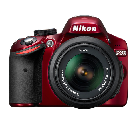 Used Nikon D3200 DSLR with 18-55mm VR (Red)