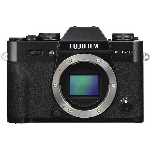 Fujifilm X-T20 Mirrorless Camera & XC 15-45mm Lens - Black